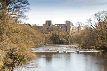 Barnard Castle from the river Tees